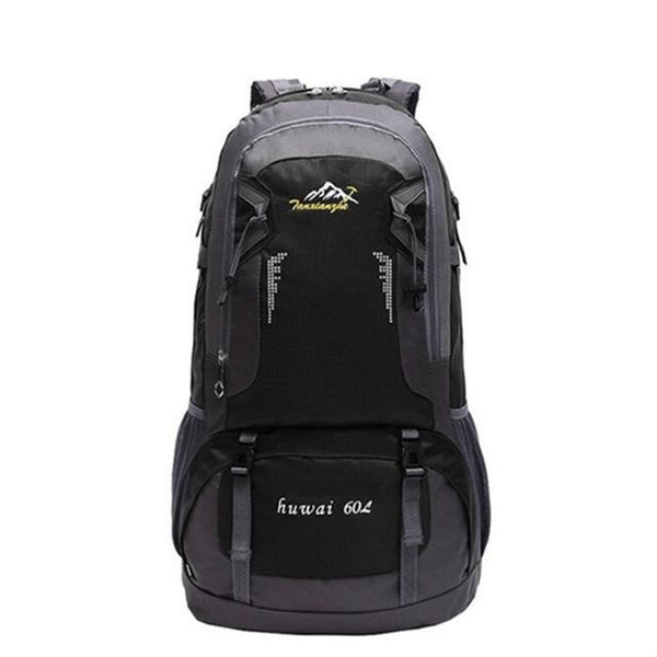 Hiking / Climbing Backpack <br> Nylon Backpack Black - strapsandbrass.com