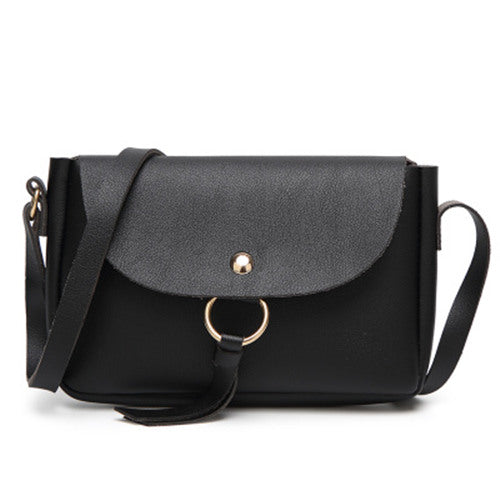 <bold>Clutch / Crossbody Bag <br>Vegan-Leather Handbag Black - strapsandbrass.com