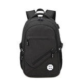 Backpack USB Charging & Business<br>Oxford Backpack Black - strapsandbrass.com