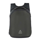 Backpack USB Charging & Anti-Theft<br>Vegan Leather Backpack Black - strapsandbrass.com