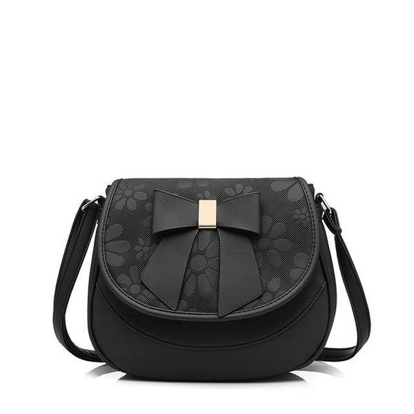 <bold>Crossbody / Shoulder Bag <br>Vegan-Leather Handbag Black - strapsandbrass.com