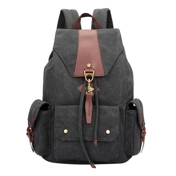 <bold>Fashion Backpack <br>Canva Fashion Backpack Black - strapsandbrass.com