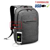 Copy of Backpack USB Charging & Anti-Theft <br> Oxford Backpack Black grey 3090USB - strapsandbrass.com