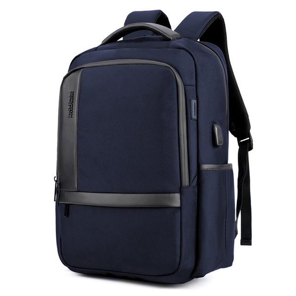 Backpack USB Charging <br> Oxford Backpack Blue - strapsandbrass.com