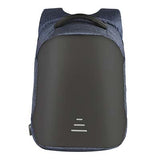 Backpack USB Charging & Anti-Theft<br>Vegan Leather Backpack Blue - strapsandbrass.com