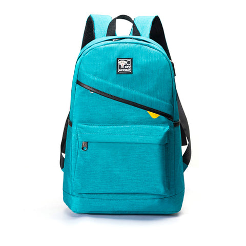Backpack USB Charging <br> Canvas Backpack Blue - strapsandbrass.com