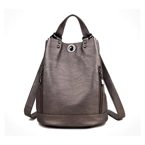 <bold>Fashion Backpack  <br>Vegan-Leather Fashion Backpack Bronze - strapsandbrass.com
