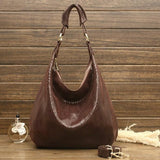 <bold>Hobo / Tote Bag <br>Genuine-Leather Handbag Coffee - strapsandbrass.com