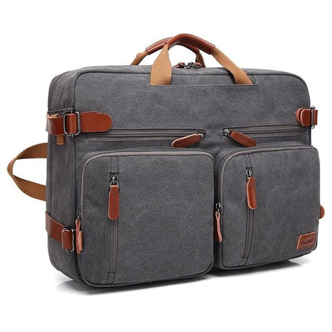 Convertible Backpack / Messenger / Laptop <br> Nylon Backpack  - strapsandbrass.com