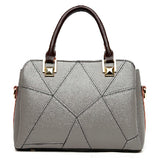 <bold>Top-Handle  / Crossbody Bag <br>Genuine-Leather Handbag Gray - strapsandbrass.com