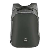 Backpack USB Charging & Anti-Theft<br>Vegan Leather Backpack Gray - strapsandbrass.com