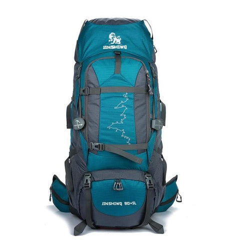 Backpack Hiking & Climbing<br> Nylon Backpack Lake Blue - strapsandbrass.com