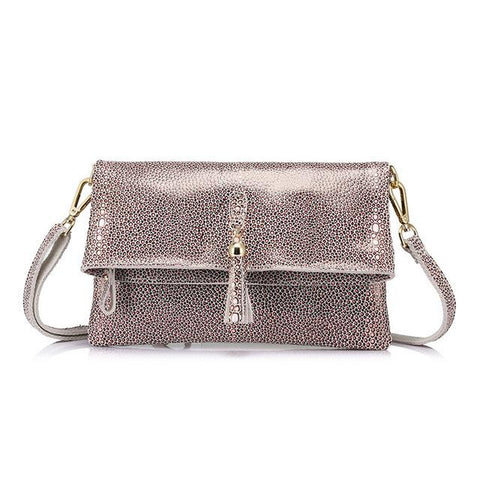 <bold>Crossbody / Shoulder Bag <br>Genuine-Leather Handbag Pink - strapsandbrass.com