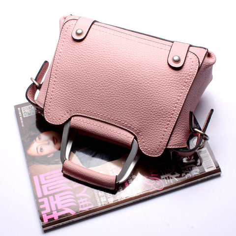 Top-Handle / Crossbody Bag  <br>Genuine-Leather Handbag Pink - strapsandbrass.com
