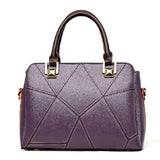 <bold>Top-Handle  / Crossbody Bag <br>Genuine-Leather Handbag Purple - strapsandbrass.com