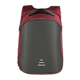 Backpack USB Charging & Anti-Theft<br>Vegan Leather Backpack Red - strapsandbrass.com