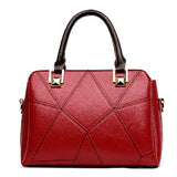<bold>Top-Handle  / Crossbody Bag <br>Genuine-Leather Handbag Red - strapsandbrass.com