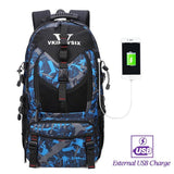 Backpack USB Charging <br> Oxford Backpack V61042bluewithUSB - strapsandbrass.com