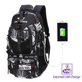 Backpack USB Charging <br> Oxford Backpack V61042whitebackUSB - strapsandbrass.com