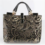 <bold>Tote / Top-Handle Bag  <br>Genuine-Leather Handbag  - strapsandbrass.com