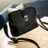 <bold>Messenger / Crossbody Bag  <br>Vegan-Leather Handbag Black - strapsandbrass.com