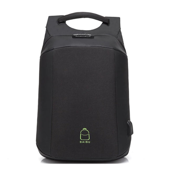 Backpack USB Charging & Anti-Theft<br> Ox Backpack black - strapsandbrass.com