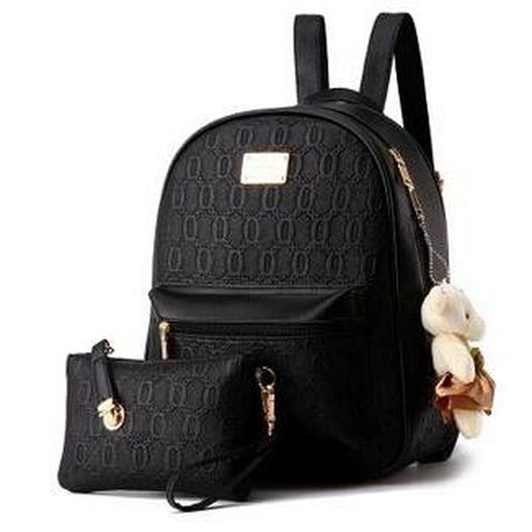 <bold>Youth Fashion Backpack  <br>Vegan-Leather Fashion Backpack Black backpack - strapsandbrass.com
