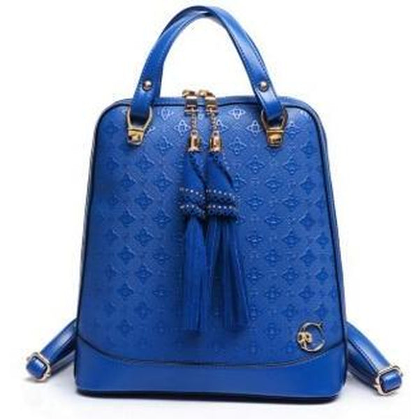 <bold>Fashion Backpack  <br>Vegan-Leather Fashion Backpack Blue backpack - strapsandbrass.com