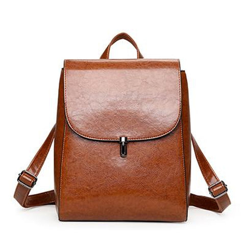 <bold>Fashion Backpack  <br>Vegan-Leather Fashion Backpack Brown - strapsandbrass.com