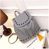 <bold>Fashion Backpack  <br>Vegan-Leather Fashion Backpack Gray backpack - strapsandbrass.com