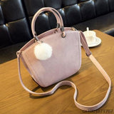 <bold>Messenger / Crossbody Bag  <br>Vegan-Leather Handbag Pink - strapsandbrass.com