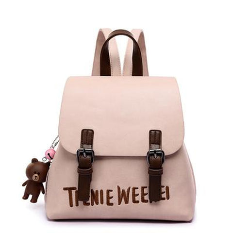 <bold>Youth Backpack <br>Vegan-Leather Fashion Backpack Pink backpack - strapsandbrass.com
