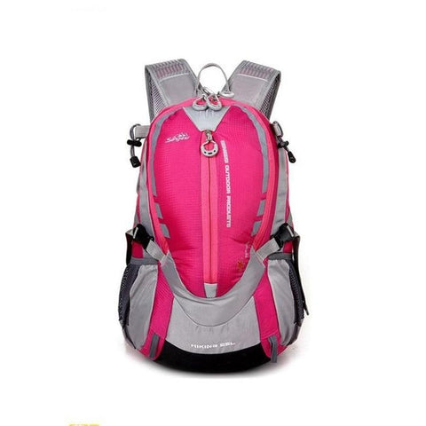 Hiking / Climbing Backpack <br> Nylon Backpack Rose Red - strapsandbrass.com