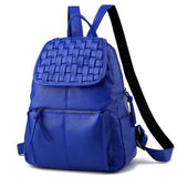 <bold>Casual Backpack <br>Vegan-Leather Fashion Backpack sapphire Blue - strapsandbrass.com