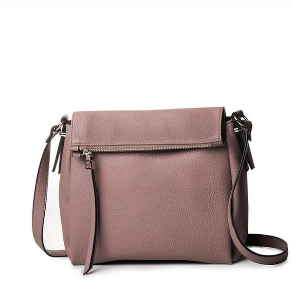<bold>Crossbody / Shoulder Bag <br>Vegan-Leather Handbag Taupe - strapsandbrass.com