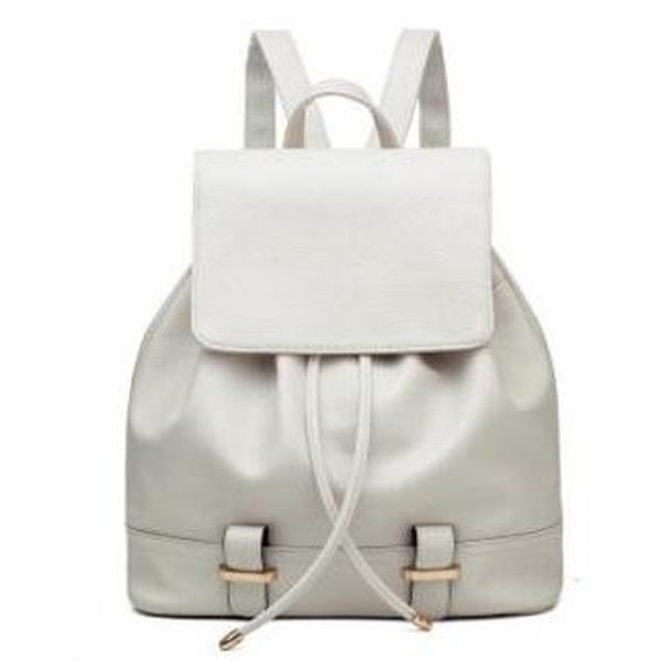 <bold>Fashion Backpack  <br>Vegan-Leather Fashion Backpack White backpack - strapsandbrass.com