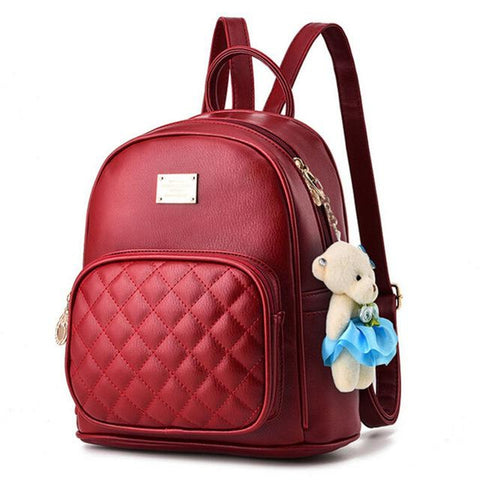 <bold>Youth Fashion Backpack  <br>Vegan-Leather Fashion Backpack Redbackpack - strapsandbrass.com