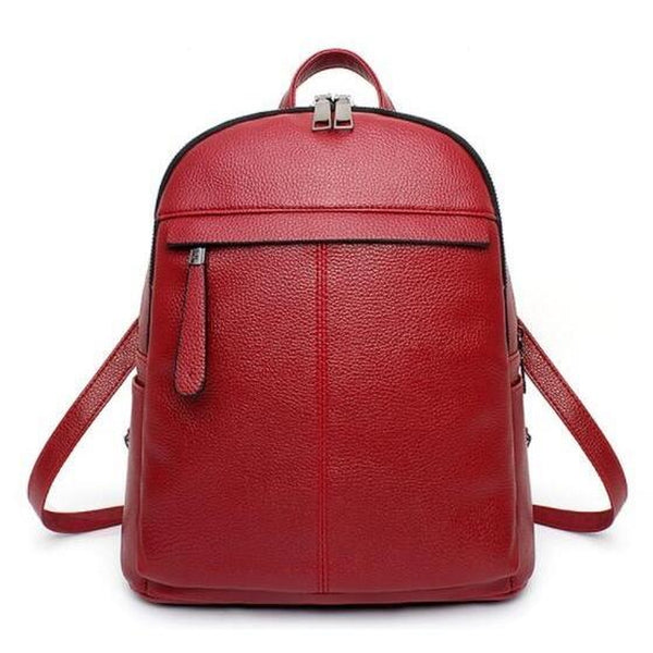 <bold>Fashion Backpack <br>Vegan-Leather Fashion Backpack Redbackpack - strapsandbrass.com