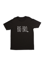 "Black kids tee with ""big bro"" written on it."