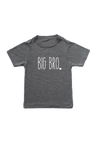 "Grey kids tee with ""big bro"" written on it."