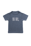 "Navy kids tee with ""big bro"" written on it."