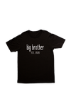"Black kids tee with ""big brother est. 2020"" written on it."