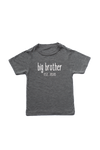 "Grey kids tee with ""big brother est. 2020"" written on it."