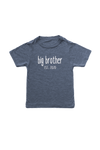 "Navy kids tee with ""big brother est. 2020"" written on it."