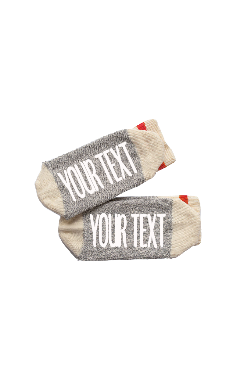Red Stripe Cabin Socks | Personalized
