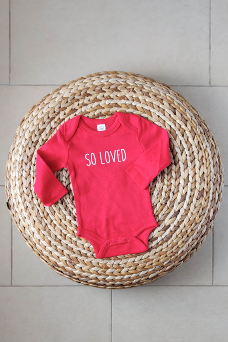 """So loved"" Organic Cotton Bodysuit - Long-sleeve 0-3M"