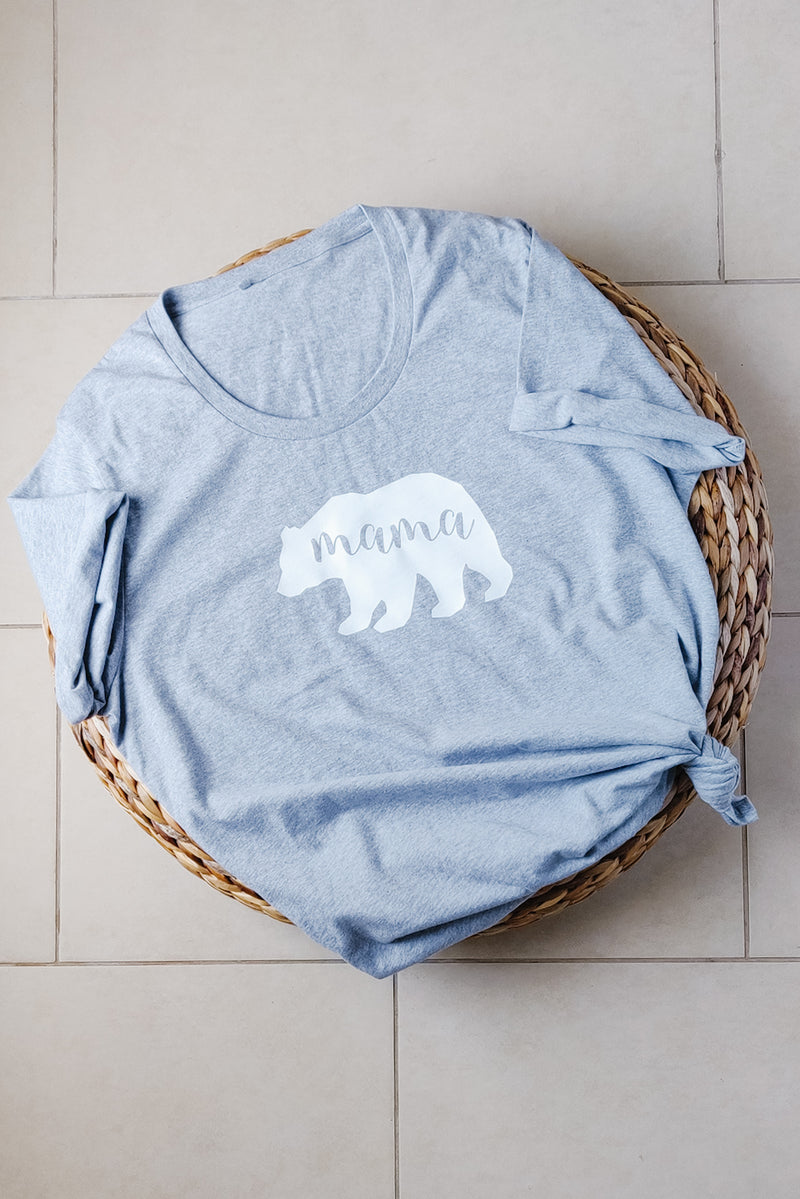 """Mama Bear"" Organic Cotton Tee - Ladies Fit Size 2XL"