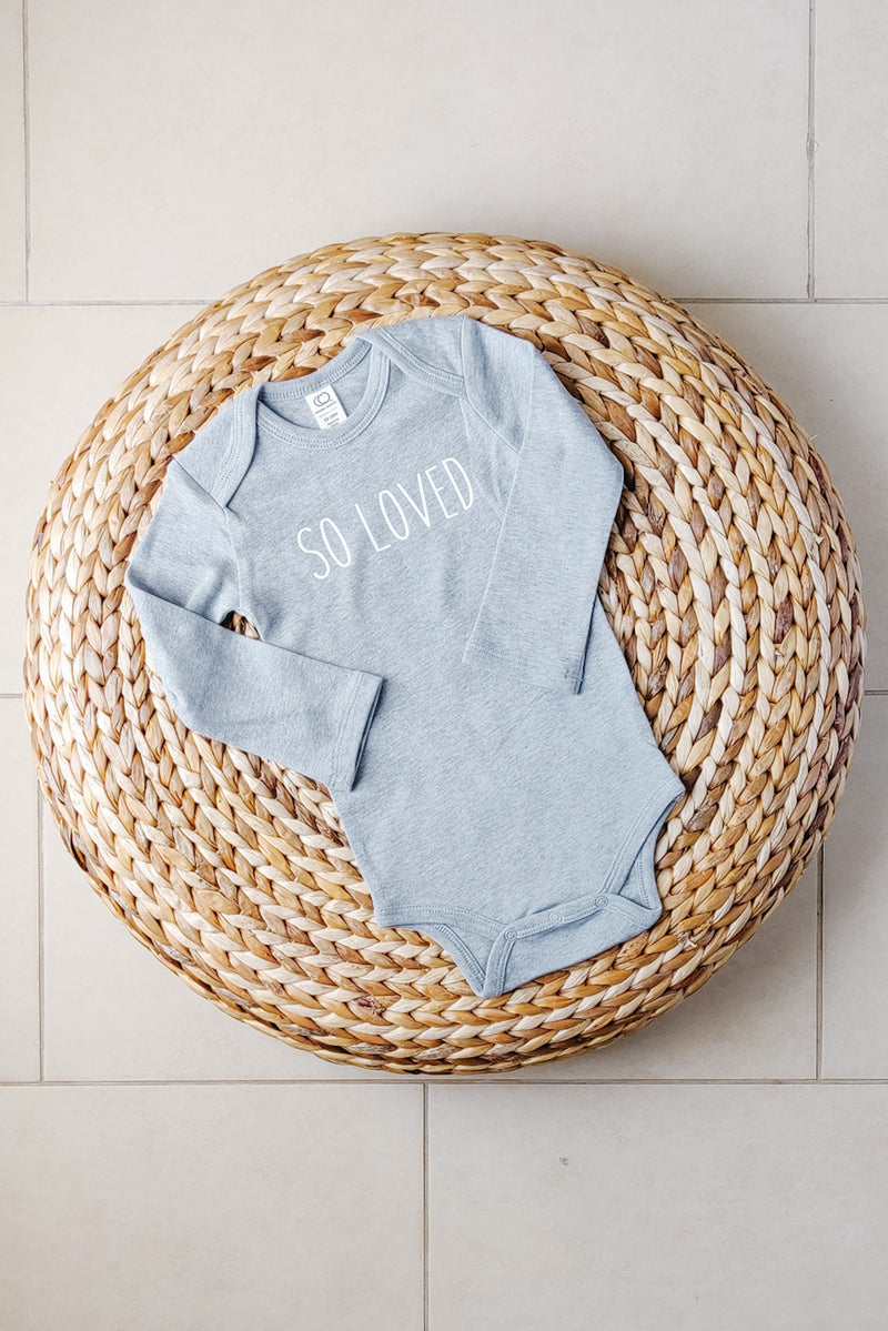 """So loved"" Organic Cotton Bodysuit - Long-sleeve 12-18M"
