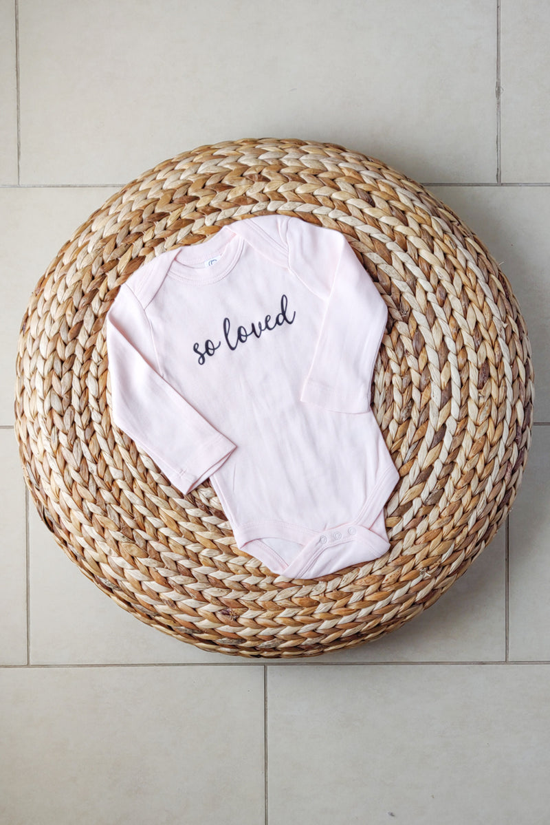 """So loved"" Organic Cotton Bodysuit - Long-sleeve 6-12M"
