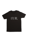 "Black kids tee with ""little bro"" written on it."